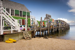 Fishing shed homes Royalty Free Stock Photography