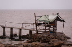 Fishing shed Stock Photo
