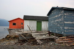 Fishing Sheds in Norris Point Royalty Free Stock Image