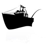 Fishing ship. On a white background Stock Image