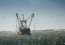 Fishing ship stock image