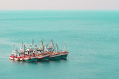 Fishing ship in Andaman sea Thailand Stock Photo