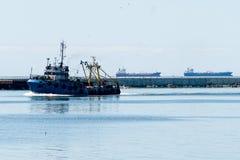 Fishing ship goes via Baltic sea channel to base
