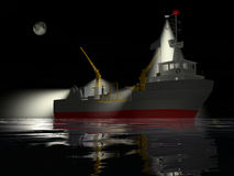 Fishing ship at night Royalty Free Stock Image