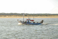 Fishing ship. In the river guadalquivir royalty free stock photography
