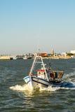 Fishing ship. In the river guadalquivir stock photos