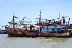 Fishing ship on the  Sea Stock Photos