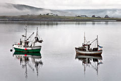 Fishing ships. Off the coast of Royalty Free Stock Image