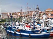 Fishing ships. In Bermeo Stock Photo