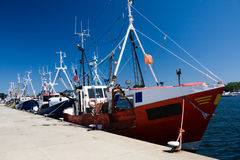 Fishing ships in dock Stock Photo