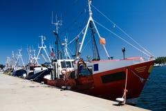 Fishing Ships In Dock Stock Photo
