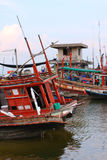 Fishing Ships, Thailand Royalty Free Stock Photography