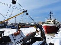 Klaipeda port in winter, Lithuania Stock Image