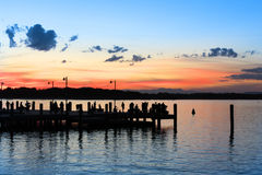 Wharf at Sunset  Royalty Free Stock Photos