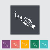 Fishing. Single flat icon Vector illustration Royalty Free Stock Photo