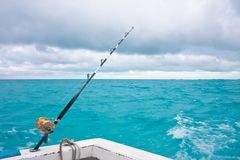 Fishing on the spinning. Cuba Royalty Free Stock Photography