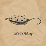 Fishing spoon. Vector illustration. Fishing spoon, bait for trout. Vector illustration EPS10 Stock Photo