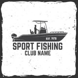 Fishing sport club. Vector illustration. Hipster fishing club. Vector illustration. Concept for shirt or logo, print, stamp or tee. Vintage typography design Royalty Free Stock Photo