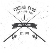 Fishing sport club. Vector illustration. Fishing club. Live, love, fish. Vector illustration. Concept for shirt or logo, print, stamp or tee. Vintage typography Royalty Free Stock Photography