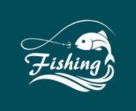 Fishing sport emblem Stock Image
