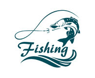 Fishing sport emblem Stock Images