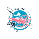 Fishing sport round symbol design Royalty Free Stock Image