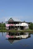 Place alongside a lake fishing Stock Image