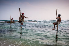 Fishing in Sri Lanka Stock Photography