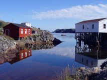 Fishing Stages. In Salvage, Newfoundland Royalty Free Stock Image