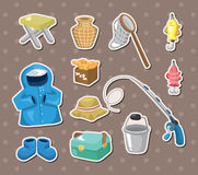 Fishing stickers Royalty Free Stock Images