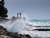 Fishing storm Royalty Free Stock Image
