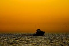 Fishing at Sunrise Royalty Free Stock Images