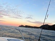 Fishing Sunrise Royalty Free Stock Images