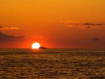 Fishing sunset Stock Photos