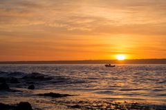Fishing at Sunset. On Kangaroo Island Stock Photos
