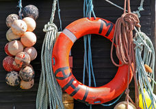 Fishing supplies Stock Images