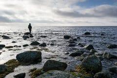 Fishing in the Swedish sea Stock Photo