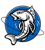 Fishing symbol Royalty Free Stock Images