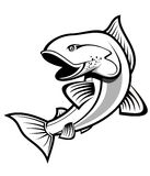 Fishing symbol Stock Photography