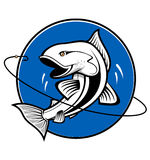 Fishing symbol royalty free stock image