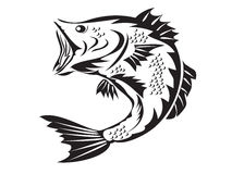 Fishing symbol - bass Stock Image
