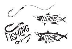 Fishing symbol Royalty Free Stock Photos