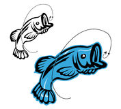 Fishing symbols Royalty Free Stock Images