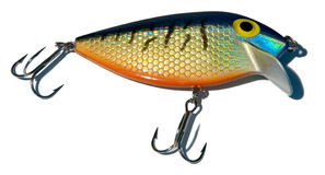 Fishing tackle 2. Here a closeup of a fishing lure Royalty Free Stock Image