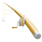 Fishing tackle. Funny illustration of fishing tackle Royalty Free Stock Photography