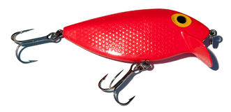 Fishing tackle 3. Here a closeup of a fishing lure Royalty Free Stock Photos
