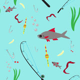 Fishing tackle and bait Stock Image