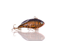 Fishing Tackle Lure. With Reflection stock photos