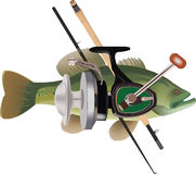 Fishing tackle royalty free illustration