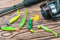 Fishing tackle spinning Stock Photography